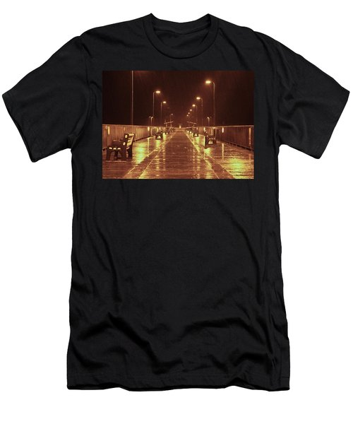Rainy Night On The Pier Men's T-Shirt (Athletic Fit)