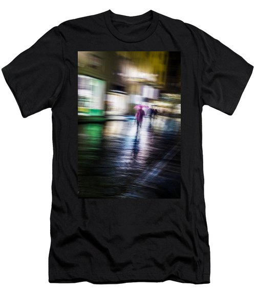 Men's T-Shirt (Slim Fit) featuring the photograph Rainy Streets by Alex Lapidus