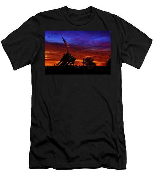 Raising The Flag Men's T-Shirt (Athletic Fit)