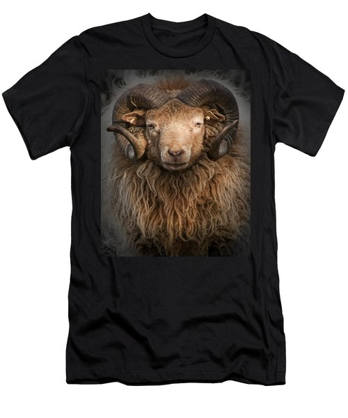 Ram Portrait Men's T-Shirt (Athletic Fit)