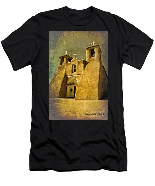 Ranchos Church In Old Gold Men's T-Shirt (Athletic Fit)
