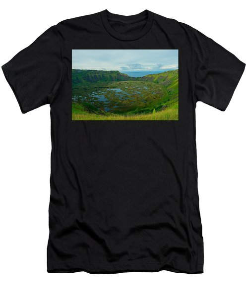 Rano Kau Kau Crater Men's T-Shirt (Athletic Fit)
