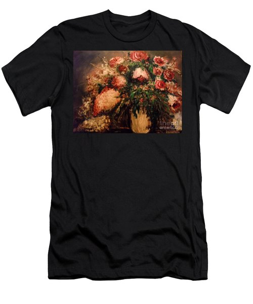 Men's T-Shirt (Athletic Fit) featuring the painting Raspberry Jammies by Laurie Lundquist