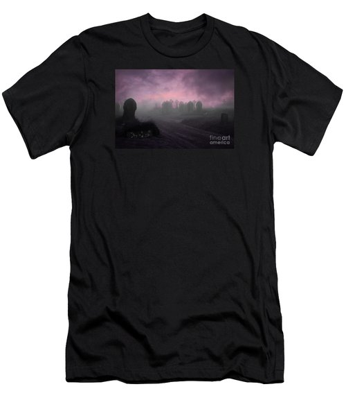 Men's T-Shirt (Slim Fit) featuring the photograph Rave In The Grave by Terri Waters
