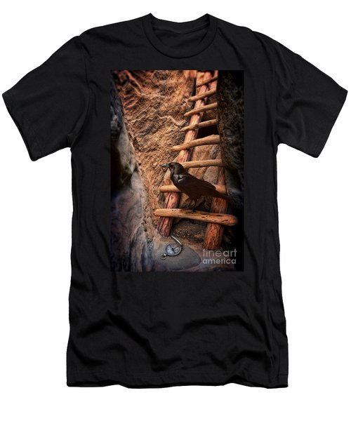 Raven On Ladder With Compass Men's T-Shirt (Athletic Fit)