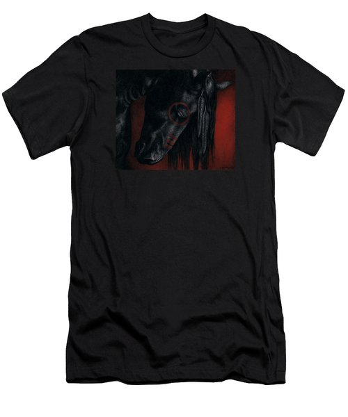 Men's T-Shirt (Slim Fit) featuring the painting Raven Wing by Pat Erickson