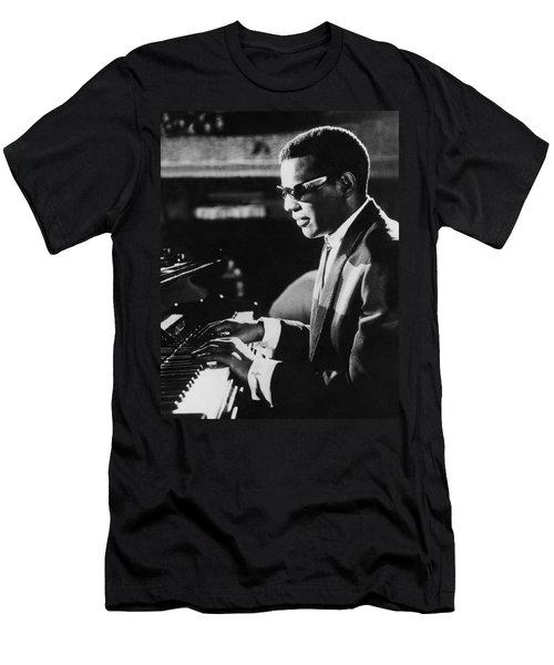 Ray Charles At The Piano Men's T-Shirt (Athletic Fit)