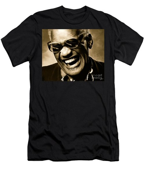 Ray Charles - Portrait Men's T-Shirt (Athletic Fit)