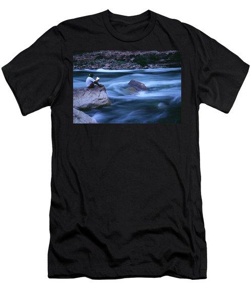 Reading Along The Colorado River Men's T-Shirt (Athletic Fit)