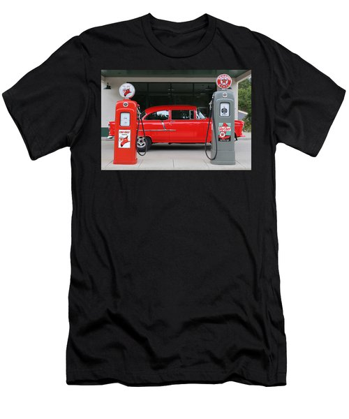 Red 55 Men's T-Shirt (Slim Fit) by Lynn Sprowl