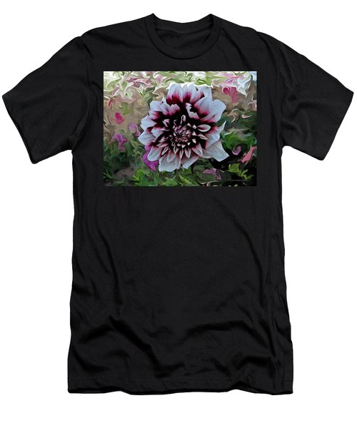 Red And White Dahlia  Men's T-Shirt (Athletic Fit)