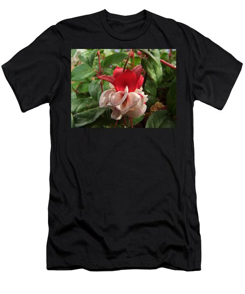 Red And White Fuschia Men's T-Shirt (Athletic Fit)