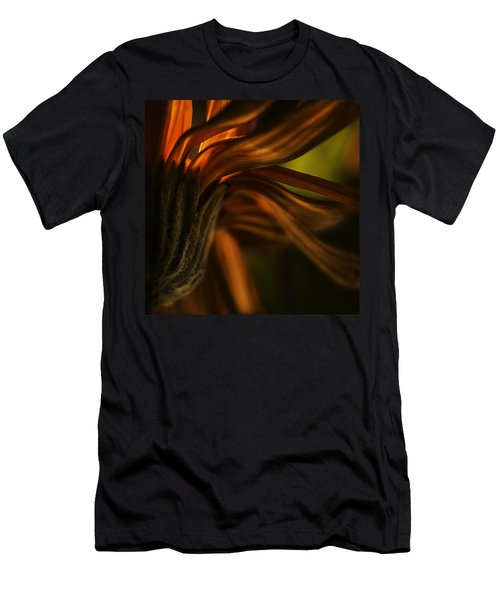 Men's T-Shirt (Slim Fit) featuring the photograph Red Autumn Blossom Detail by Peter v Quenter