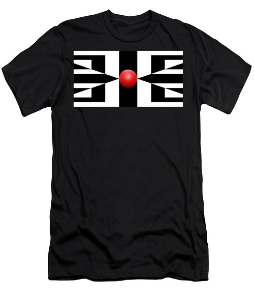 Red Ball 2a Panoramic Men's T-Shirt (Athletic Fit)