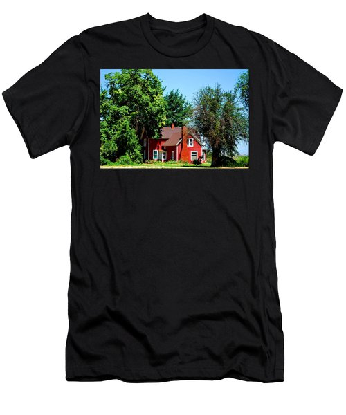 Men's T-Shirt (Slim Fit) featuring the photograph Red Barn And Trees by Matt Harang