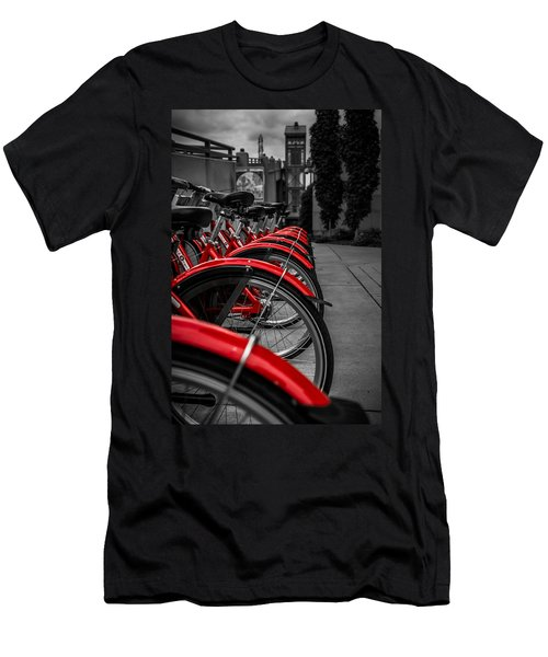Red Bicycles Men's T-Shirt (Athletic Fit)