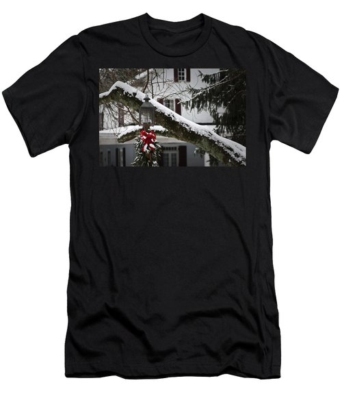 Red Bow Candle Light Men's T-Shirt (Athletic Fit)