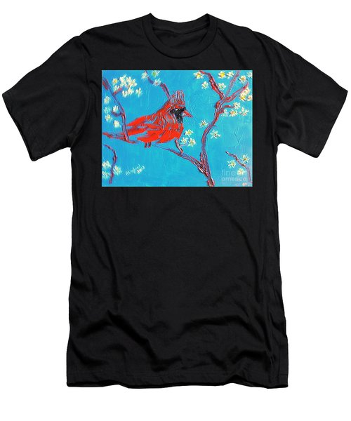 Red Cardinal Spring Men's T-Shirt (Athletic Fit)