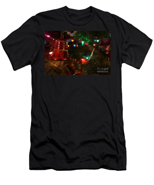 Red Christmas Bell Men's T-Shirt (Athletic Fit)