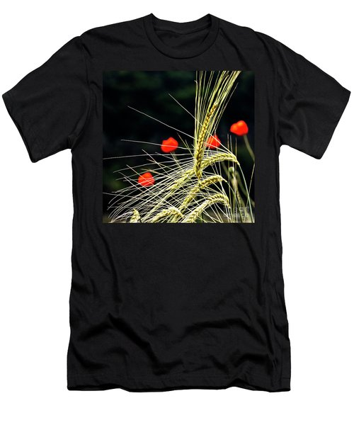 Red Corn Poppies Men's T-Shirt (Athletic Fit)