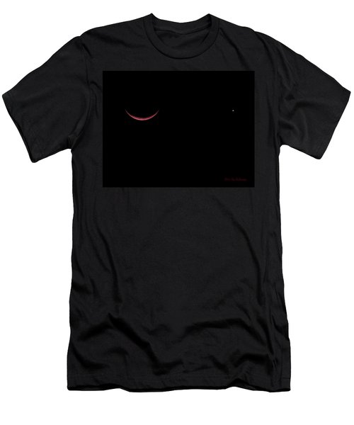 Red Crescent Moon And Venus Men's T-Shirt (Athletic Fit)