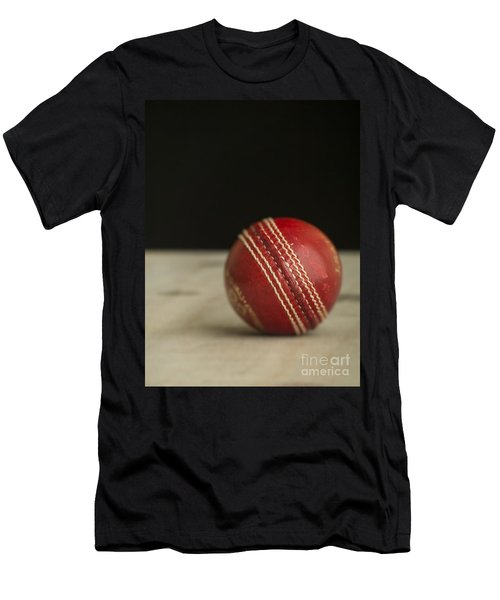 Red Cricket Ball Men's T-Shirt (Athletic Fit)