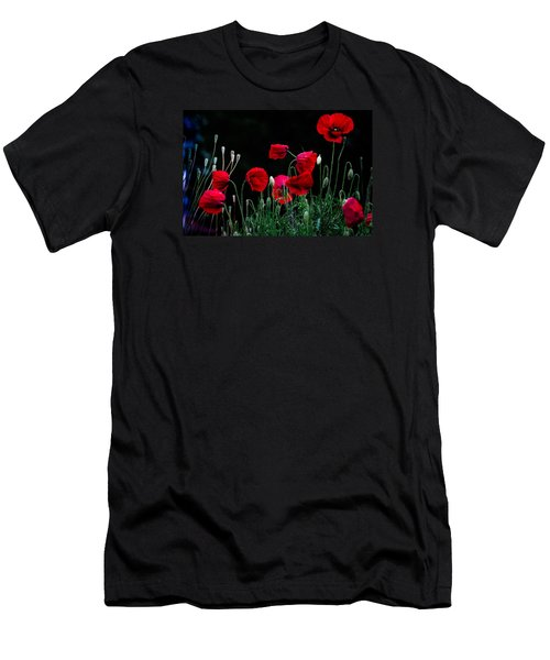 Men's T-Shirt (Slim Fit) featuring the photograph Red Dance by Edgar Laureano