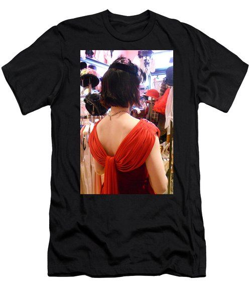 Red Men's T-Shirt (Slim Fit) by David Trotter