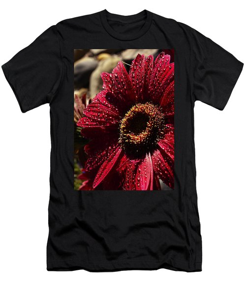 Men's T-Shirt (Slim Fit) featuring the photograph Red Dew by Joe Schofield