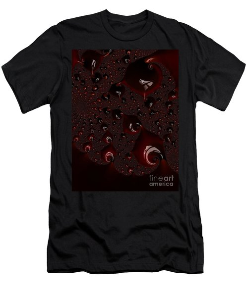 Red Droplets  Men's T-Shirt (Athletic Fit)