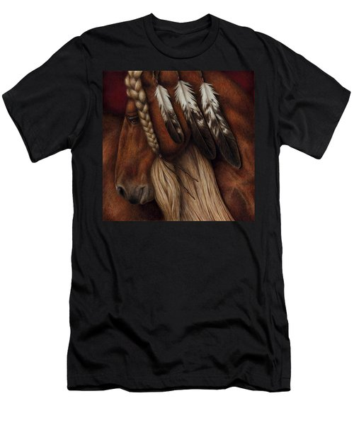 Men's T-Shirt (Slim Fit) featuring the painting Red Eagle by Pat Erickson