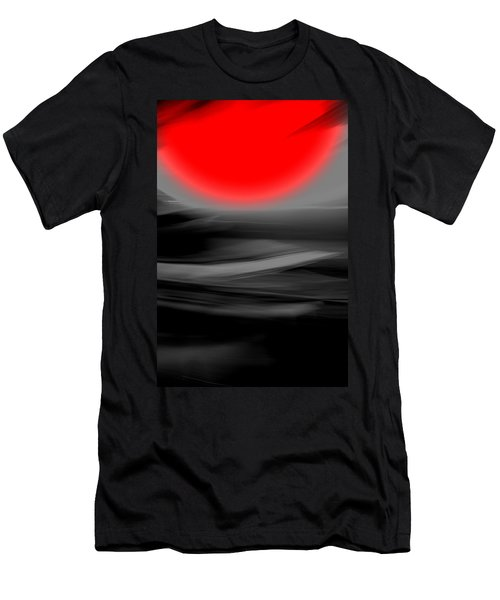 Men's T-Shirt (Slim Fit) featuring the mixed media Red Giant by Terence Morrissey