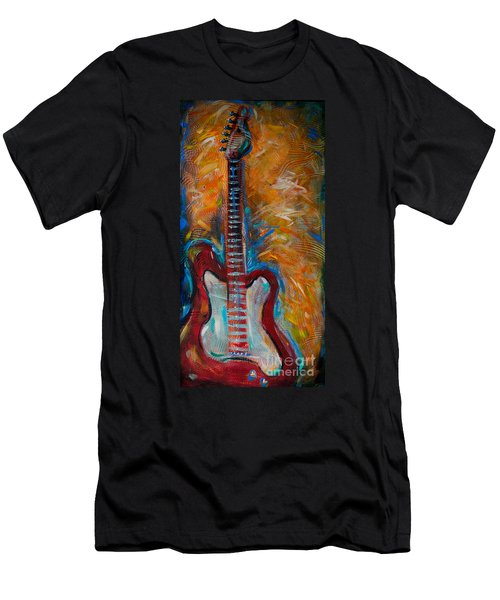Red Guitar Men's T-Shirt (Athletic Fit)