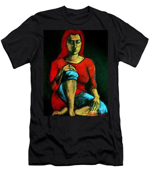 Red Hair Woman Men's T-Shirt (Athletic Fit)