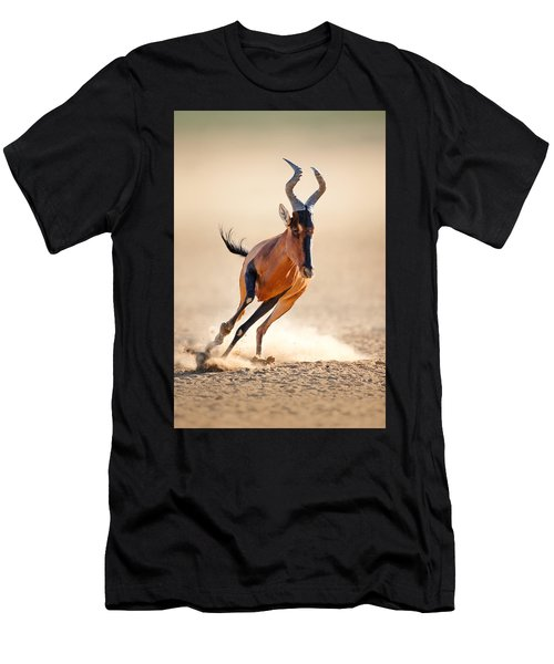 Red Hartebeest Running Men's T-Shirt (Athletic Fit)