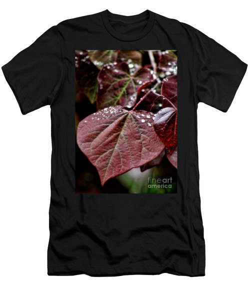 Men's T-Shirt (Slim Fit) featuring the photograph Red Heart by Peggy Hughes