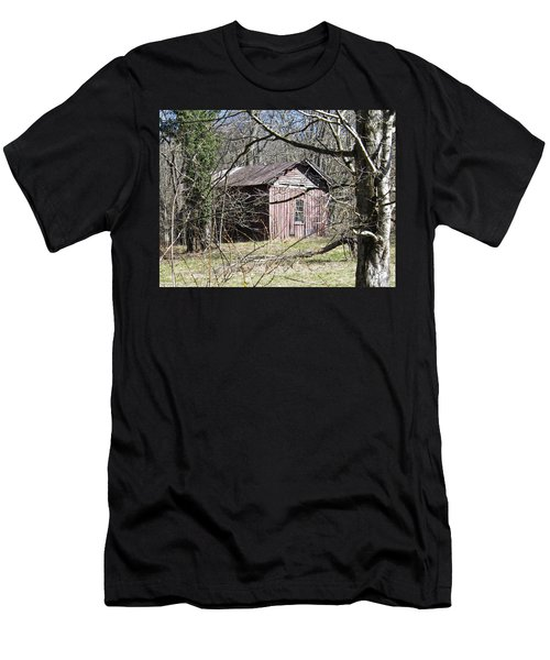 Men's T-Shirt (Slim Fit) featuring the photograph Red House by Nick Kirby