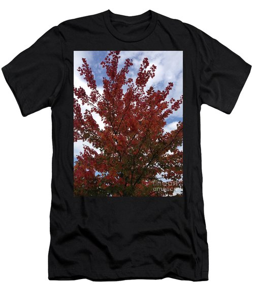 Red Leaves Men's T-Shirt (Athletic Fit)