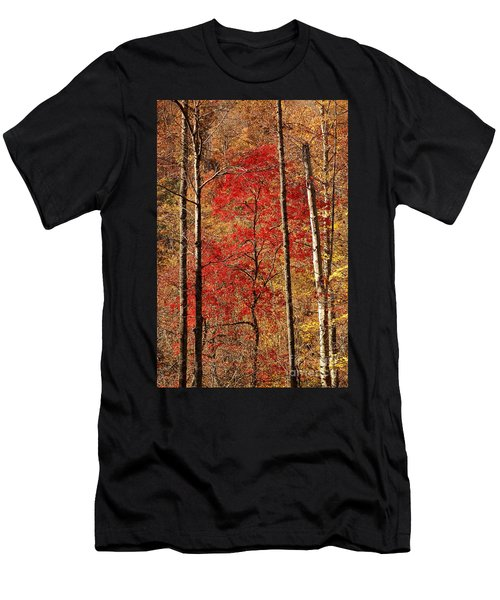 Men's T-Shirt (Slim Fit) featuring the photograph Red Leaves by Patrick Shupert