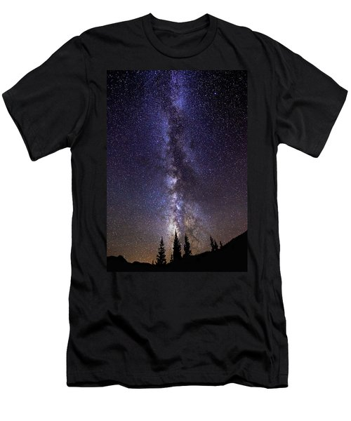 Red Mountain Milky Way Men's T-Shirt (Athletic Fit)