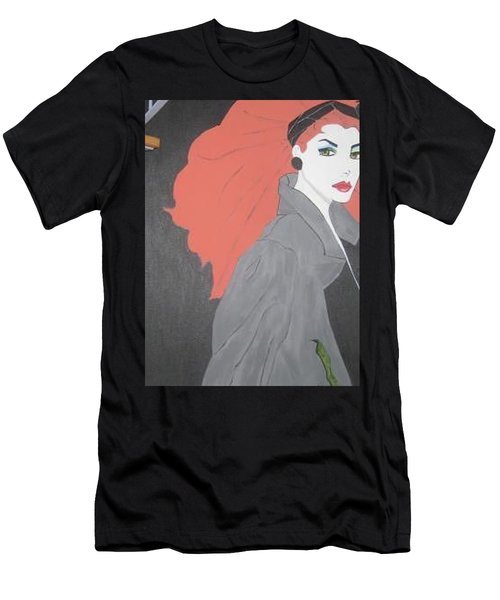 Men's T-Shirt (Slim Fit) featuring the painting RED by Nora Shepley