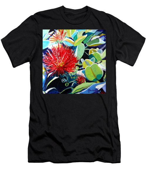 Red Ohia Lehua Flower Men's T-Shirt (Athletic Fit)