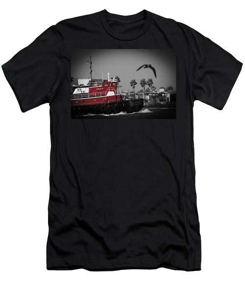 Red Pop Tugboat Men's T-Shirt (Athletic Fit)