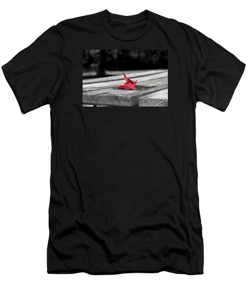 Men's T-Shirt (Slim Fit) featuring the photograph Red by Rebecca Davis