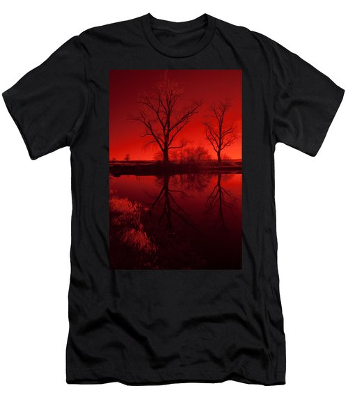 Red Reflections Men's T-Shirt (Slim Fit) by Miguel Winterpacht