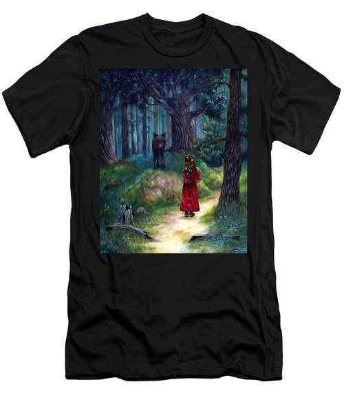 Men's T-Shirt (Slim Fit) featuring the painting Red Riding Hood by Heather Calderon