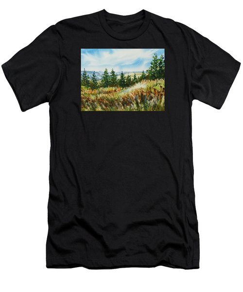 Red Rock View Road Men's T-Shirt (Athletic Fit)
