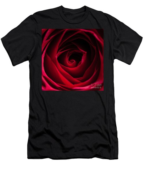 Red Rose Square Men's T-Shirt (Athletic Fit)