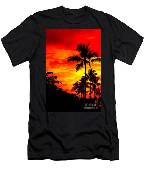 Men's T-Shirt (Slim Fit) featuring the photograph Red Sky At Night by David Lawson