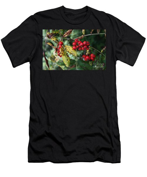 Men's T-Shirt (Slim Fit) featuring the photograph Red Summer Berries - Whistler by Amanda Holmes Tzafrir